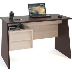 Письменный стол СОКОЛ КСТ-115 венге/беленый дуб письменный стол сокол кст 107 1