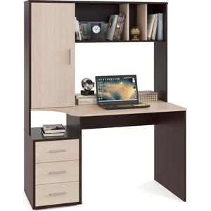 Компьютерный стол СОКОЛ КСТ-16 венге/беленый дуб сокол мебель кст 105 венге