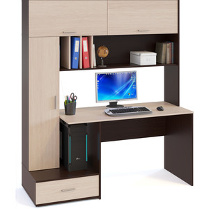 Компьютерный стол СОКОЛ КСТ-17 Венге/Беленый дуб стол компьютерный гамма кст 1200 дуб сонома