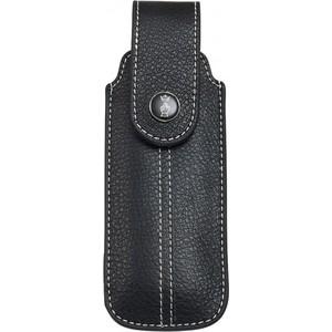 Чехол Opinel Chic black leather (натуральная кожа, размер № 7, 8, 9)