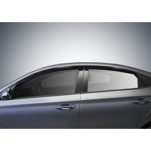 Дефлекторы окон AutoFlex для Hyundai Solaris седан (2011-2017), поликарбонат, 4 шт., 823101