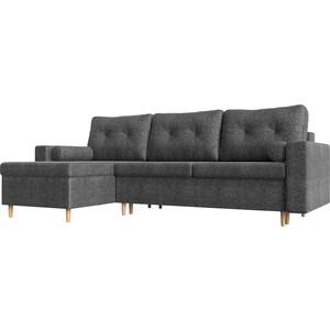 Угловой диван Мебелико Белфаст рогожка серый левый угол