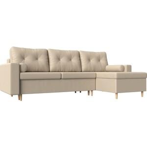 Угловой диван Мебелико Белфаст эко-кожа бежевый правый угол