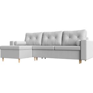 Угловой диван Мебелико Белфаст эко-кожа белый левый угол