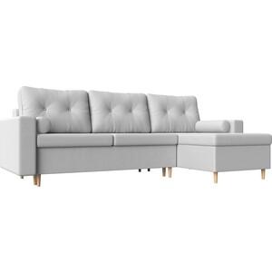 Угловой диван Мебелико Белфаст эко-кожа белый правый угол
