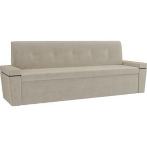 Кухонный диван Мебелико Деметра микровелвет (бежевый)