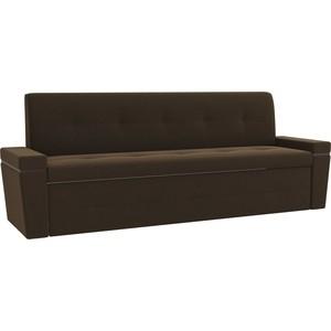 Кухонный диван Мебелико Деметра микровелвет (коричневый)