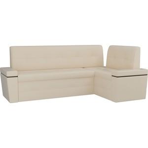 Кухонный угловой диван Мебелико Деметра эко-кожа (бежевый) правый угол кухонный угловой диван мебелико деметра эко кожа бежевый правый угол