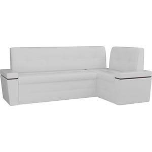 Кухонный угловой диван Мебелико Деметра эко-кожа (белый) правый угол кухонный угловой диван мебелико деметра эко кожа бежевый правый угол
