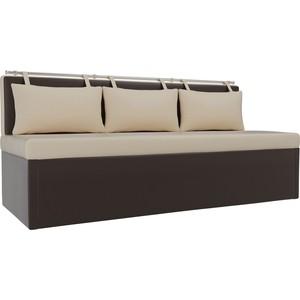 Кухонный диван Мебелико Метро эко-кожа бежево-коричневый