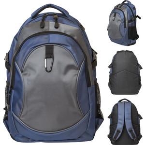 Рюкзак Action городской, размер 45x28x13 см, мягкая спинка, синий с черным, унисекс