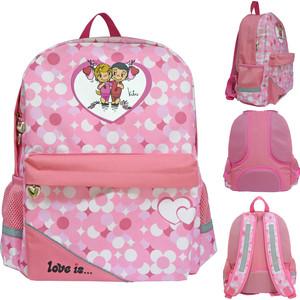 Рюкзак Action LOVE IS , разм. 40 x 33 x 12 , рельефная спинка, светоот. элементы, розовый рюкзак discovery 40х28х16см рельефная анатомическая спинка тёмно синий
