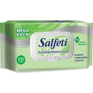 Влажные салфетки Авангард Salfeti антибактериальные с клапаном, 100 шт