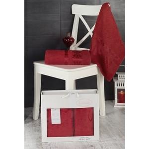 Набор из 2 полотенец Karna Rebeka (50x90 / 70х140) красный (2660 CHAR009)