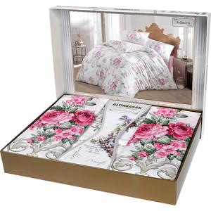 Комплект постельного белья Altinbasak Евро, ранфорс, Mona розовый (297 / 27 / CHAR001)