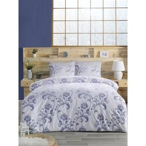 Комплект постельного белья Altinbasak Евро, ранфорс, Lucian голубой (297 / 65 CHAR001)