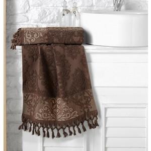 Полотенце Karna Ottoman жаккард 70x140 см темно-коричневый (1088 / CHAR012)