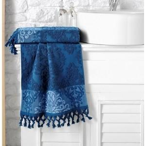 Полотенце Karna Ottoman жаккард 70x140 см синий (1088 / CHAR011) цена в Москве и Питере