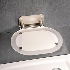 Сиденье для душа Ravak Chrome Clear/Stainless откидное, полупрозрачное, белое/хром