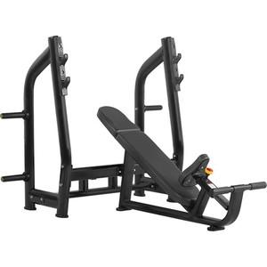 Скамья для жима с положительным наклоном Bronze Gym H-025 (черный) цена