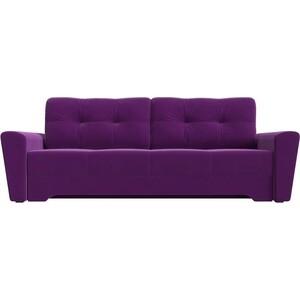 Диван-еврокнижка АртМебель Амстердам микровельвет фиолетовый