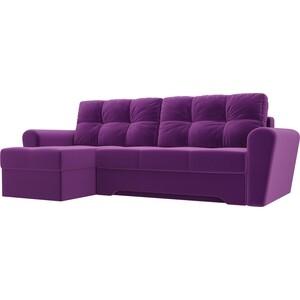 Диван угловой Мебелико Амстердам микровельвет фиолетовый левый угол диван угловой мебелико амстердам микровельвет зеленый левый угол