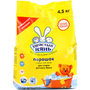 Стиральный порошок Ушастый нянь универсал детский, 4.5 кг, 75 стирок