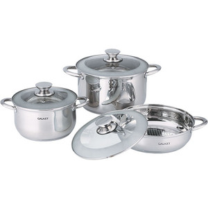 Набор посуды 6 предметов GALAXY (GL 9505) наборы посуды galaxy gl 9504 6 предметов