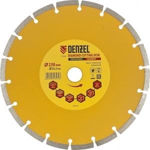 Алмазный диск DENZEL 230x22 2 мм (73104)