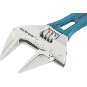 Фото - Ключ разводной GROSS 140 мм CrV (15565) ключ разводной gross 140мм 32мм укороченная ручка