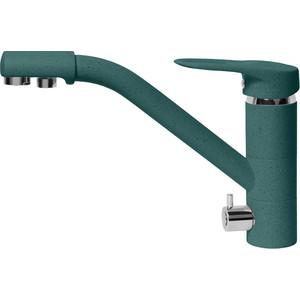 Смеситель для кухни AquaGranitEx с подключением к фильтру, зеленый (C-6040 (305)) фото