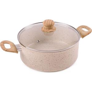 Кастрюля 4.0 л Endever Stone-Beige-24C pans with lid endever stone beige 20c