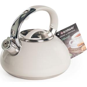 Чайник со свистком 3 л Endever Aquarelle-307 кремовый