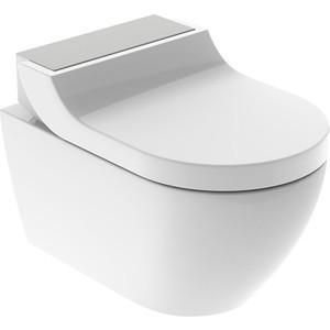 Унитаз-биде подвесной Geberit AquaClean Tuma Comfort безободковый, с сиденьем микролифт, дизайн панель матовая сталь (146.294.FW.1) цена