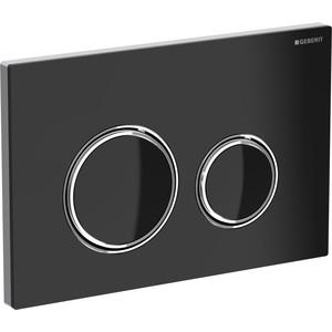 Кнопка смыва Geberit Sigma 21 стекло, черная/хром (115.884.SJ.1)