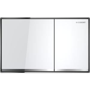 Кнопка смыва Geberit Sigma 60 стекло, белая (115.640.SI.1)
