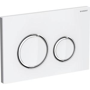 Кнопка смыва Geberit Sigma 21 стекло, белая/хром (115.884.SI.1)