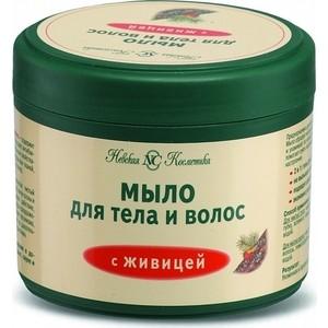 Мыло жидкое Невская косметика с живицей для тела и волос (банка), 300 мл