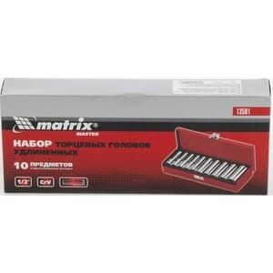 Набор торцевых головок Matrix 10-22 мм 10 предметов (13581)