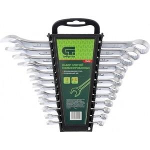 Набор ключей комбинированных СибрТех 6-22 мм 12шт CrV (15452)