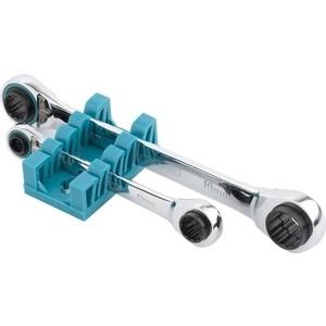 Ключи накидные с трещеткой GROSS 8-19 мм 2шт многоразмерные реверсивные CrV (14893)