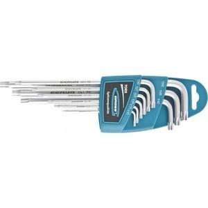 Набор ключей имбусовых GROSS TORX-TT 9шт: T10-T50 экстра-длинные S2 (16408)