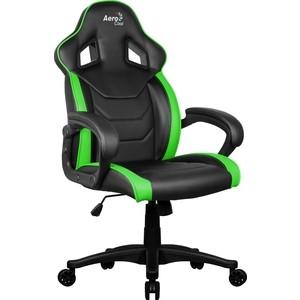 Кресло для геймера Aerocool AC60C AIR-BG черно-зеленое кресло для геймера aerocool aero 2 alpha black blue черно синее до 150 кг шxдxв 64x67x111 119см газлифт класс 4 до 100 мм механизм бабочка