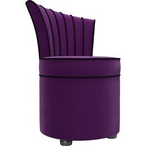 Пуф со спинкой АртМебель Ирис микровельвет фиолетовый