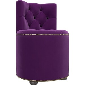 Пуф со спинкой АртМебель Саваж микровельвет фиолетовый