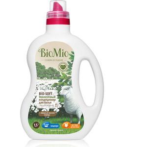 Кондиционер для белья BioMio Bio-Soft Корица и хлопок, 1.5 л кондиционер для белья экологичный bio mio концентрат bio soft с эфирным маслом корицы 1 5л
