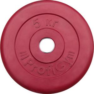 Диск ProfiGym обрезиненный d 26 мм красный 5,0 кг цена
