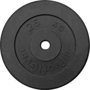 Диск ProfiGym обрезиненный d 26 мм чёрный 25,0 кг цена