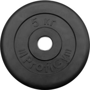 Диск ProfiGym обрезиненный d 26 мм чёрный 5,0 кг цена