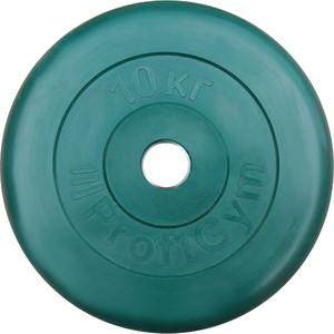 Диск ProfiGym обрезиненный d 31 мм зелёный 10,0 кг
